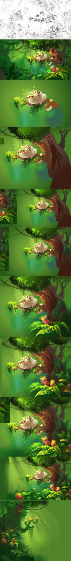 Jungle process by Zzanthia.deviantart.com on @deviantART