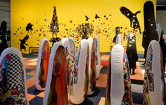 Cultural branding studio Faust has created a tactile immersive experience for kids to accompany an extensive exhibition of work by US fabric sculptor, dancer and performance artist Nick Cave