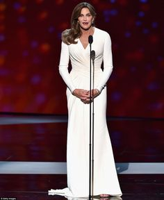 Public debut: The awards show marked Caitlyn's first major public appearance since her tra...