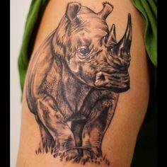 Rhino Tattoo Meanings | iTattooDesigns.com