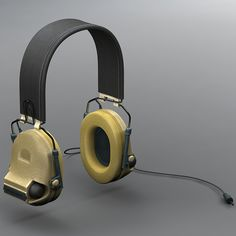 fb4a8bac083 military peltor com-tac ii 3d model Over Ear Headphones, Headset,  Headphones,