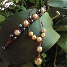 Wendy Mignot Jewelry - leather and pearls #wendymignot #sarahcarolyn