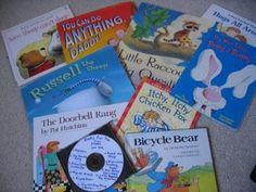 Great ideas for christmas presents.  Books on cd, play dough kits, bath time kits!
