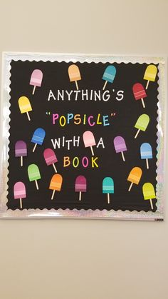 excellent diy classroom decoration ideas & themes to inspire yo Summer Bulletin Boards, Reading Bulletin Boards, Bulletin Board Display, Classroom Bulletin Boards, Classroom Door, Reading Boards, Library Boards, Library Ideas, Diy Classroom Decorations