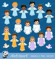 Angels Boys Little angels Boys digital Clipart / Cute Angels