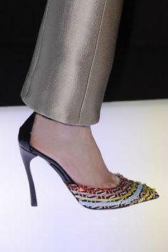 Armani Multi Color Pumps #Shoes #Heels