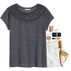 go follow the group acc I made with my 2 BFFS!!! by lydia-hh on Polyvore featuring H&M, J.Crew, Jack Rogers, Tiffany & Co., Mophie, tarte, MAC Cosmetics and Urban Decay
