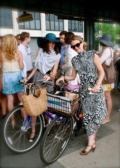 Bike fashion in NYC #onthemove #bikes