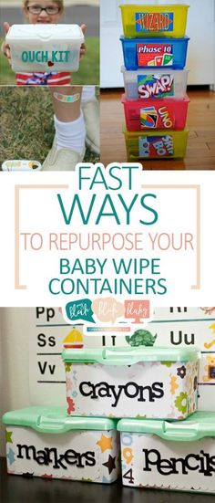 Fast Ways to Repurpose Your Baby Wipe Containers - How to Repurpose Baby Wipes, Baby Wipe Containers, Things to Do With Baby Wipe Containers, DIY Home, Home Stuff, Recycle and Repurpose.