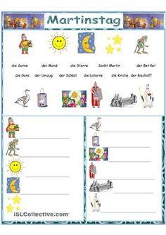 Arbeitsblatt für die KleinstenWort-Bild-Zuordnung, Schreibübung, Kreuzworträtsel, Wortsuchsel, Zwei Seiten ohne LösungTemplate stammt von Hilde - DaF Arbeitsblätter