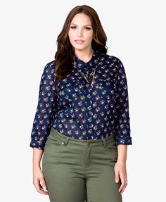 Garden Goddess Shirt | $22.80 FOREVER21 PLUS