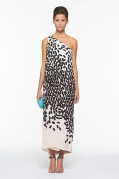 DVF | Liluye Printed Dress In Fallings Marks Nude, Spring 2012: Beginnings