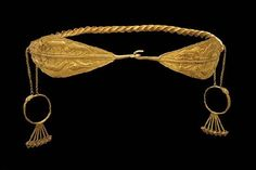 Colchian gold diadem, dated to 400-350 BCE. Much of ancient Colchis is located in modern Georgia, where this diadem was found in a tomb.