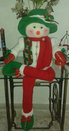 Nieve Xmas Decorations, Elf, Snowman, Rustic, Christmas Ornaments, Holiday Decor, Crochet, Crafts, Ideas