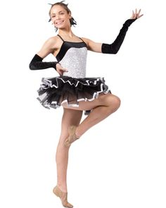 Stepping Out Girls White Sequin Dance Costume