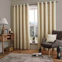 jeff banks home diego natural eyelet heading lined. Black Bedroom Furniture Sets. Home Design Ideas