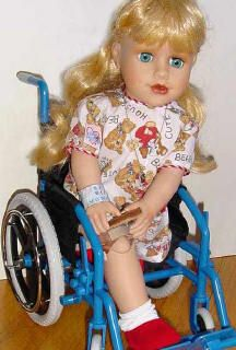 Special Needs Dolls: Sweet Play Therapy Dolls, Chemotherapy Dolls, Disabled Child Doll With Crutches, Prosthetics, A Wheelchair or Wig!