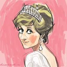 Image result for princess diana caricature