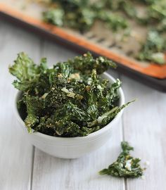 Coconut garlic kale chips.