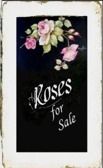 Custom order sign by Cindy Ellis. One Stroke Painting, Painting On Wood, Rose Cottage, Cottage Chic, Decoupage, Romantic Paintings, Coming Up Roses, Do It Yourself Crafts, Chalkboard Art
