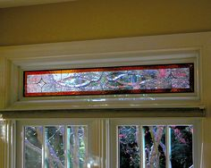Kimfler Amber Border design. #transom #home decor #artsy #beautiful #custom-made #creative #elegant #window #stained glass
