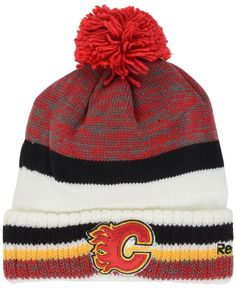 bb7bbdf0a97 Reebok Calgary Flames Pom Knit Hat   Reviews - Sports Fan Shop By Lids -  Men - Macy s