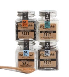 Salt Trader Gift Pack - 4 Flavors by Old Salt Merchants on Scoutmob Shoppe. Gourmet all natural salt blend gift pack for grilling, seafood and making cocktails. $32