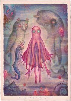 Tales of the Sea: Illustrator creates series of fantastical marine-based characters   Creative Boom. Vladimir Stankovic Meer Illustration, Fantasy Illustration, Smart Art, Lowbrow Art, Autumn Art, Pop Surrealism, Sea Creatures, Insta Art, Mars