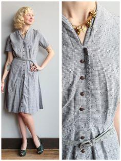 1950s Dress // Berkshire Between Dress // by dethrosevintage