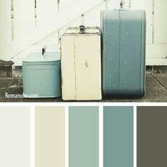 I love this color palette for home decor. Beach house color inspo or farmhouse color palette Paint Schemes, Colour Schemes, Color Combos, Colour Palettes, Beach Color Schemes, Wall Colors, House Colors, Colours, Neutral Colors