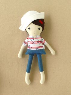 Fabric Doll Rag Doll Sailor Girl... LOVE these!!!