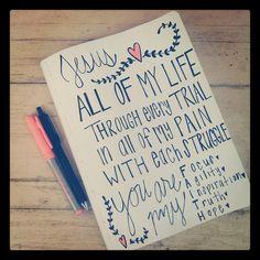 "#ScriptureDoodles | Southern Belle Soul, Mountain Bride Heart @amyloufarris33 on Instagram ... scripture doodle scripture doodles pen drawing ... ""You are my Faith"""