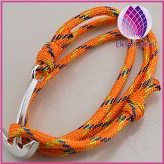 hot sale outdoor survival bracelets alloy anchor bracelets