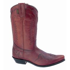 Red Western Boot