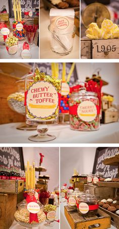vintage candy buffet by As Sweet as it Gets, www.assweetasitgets.com