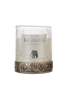 Scent of India candle - Kashmir L   Luxurous scented candle with walnut and vanilla   INDISKA