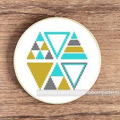 Ikat PDF Counted cross stitch pattern Modern by galabornpatterns