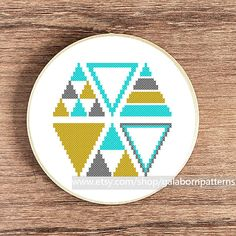 PDF Counted cross stitch pattern - Modern cross stitch - Geometric - Triangles