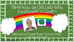 $ Old Lady Who Swallowed a Clover Interactive- vocabulary, sequencing, sentence completion, quantity concepts, communication board