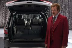 "Chrysler beat the Ron Burgundy media onslaught when it premiered its ""Anchorman: The Legend Continues"" tie-in commercials back in October. Since, Will Ferrell has been all over the place as his ""Anchorman"" character, and the shtick seems to be working."