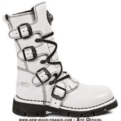 New Rock M5701 Womens Boots White