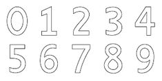 Printables Of Numbers With 0 9 Coloring Page Free Clip Art Ideas Gallery