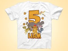 Lion Guard Birthday Shirt, Lion Guard Tshirt, Custom Birthday shirt, Party Gaurd Shirt by FunPartyDay on Etsy