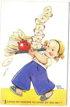 〆(⸅᷇˾ͨ⸅᷆ ˡ᷅ͮ˒)                                                                 Mabel Lucie Attwell card