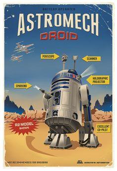 "Steve Thomas' """"Astromech Droid"" print"