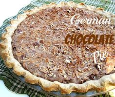 Cooking with K | Southern Kitchen Happenings: Southern Kitchen Happenings: German Chocolate Pie, {Granny's Recipe}