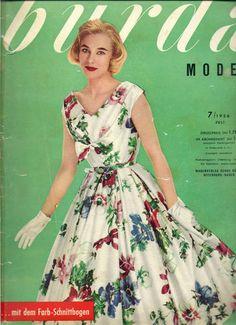 burda moden, Juli 1956 inkl. Anleitungen und Schnittmusterbögen | eBay