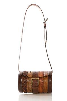 Upcycled belts bag