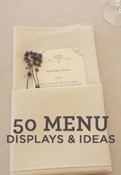 Best Wedding Menu Cards From Real Celebrations  Menu Cards