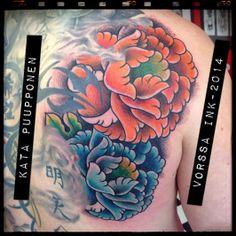 https://www.facebook.com/VorssaInk, http://tattoosbykata.blogspot.fi, #tattoo #tatuointi #katapuupponen #vorssaink #forssa #finland #traditionaltattoo #suomi #oldschool #japanese #peony